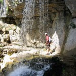 Via ferrata dans le canyon